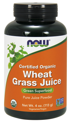 NOW: Organic Wheat Grass Juice Powder 4 oz