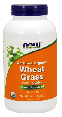 NOW: WHEAT GRASS POWDER ORGANIC 9oz