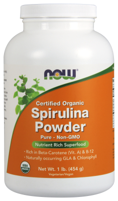 NOW: ORGANIC SPIRULINA PWD 1 LB CANNISTER