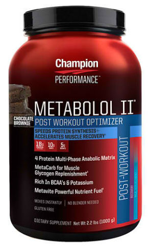 CHAMPION NUTRITION: METABOLOL II CHOCOLATE 2.2 LBS