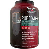CHAMPION NUTRITION: PURE WHEY PLUS CHOCOLATE BROWNIE 4.8 LBS