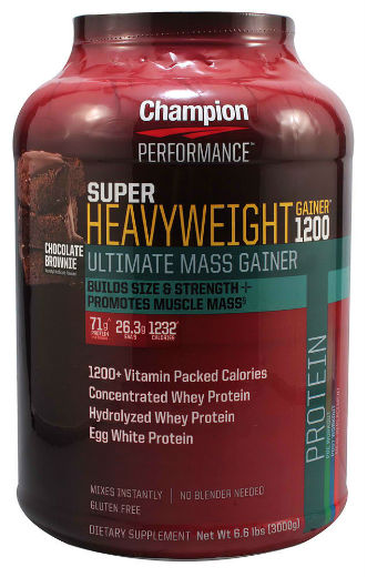 CHAMPION NUTRITION: SUPER HEAVY WEIGHT GAINER CHOCOLATE 6.6 LBS
