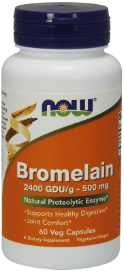 NOW: BROMELAIN 2400GDU  500mg  60 VCAPS 60 vcaps