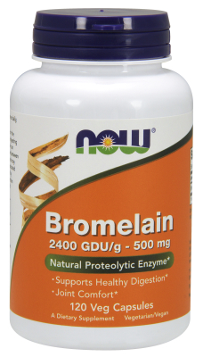 NOW: BROMELAIN 2400GDU  500mg 120 VCAPS