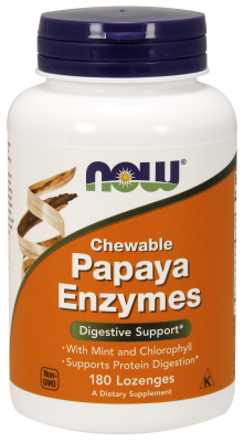 NOW: PAPAYA ENZYME CHEWABLE  180 TABS 1