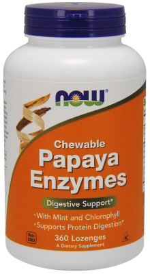 NOW: PAPAYA ENZYME CHEWABLE  360 TABS 1