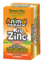 Natures Plus: Animal Parade KidZinc Lozenges Tangerine Flavor 90 tabs