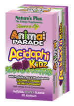 Natures Plus: Animal Parade AcidophiKidz Berry Flavor 90 Chewable Tabs