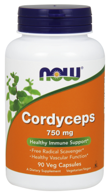 NOW: Cordyceps 750mg Organic 90 Vcaps