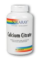 Solaray: Calcium citrate 120 vcaps 250mg