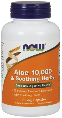 NOW: Aloe Vera 10,000 And Soothing Herbs 90 Vcaps