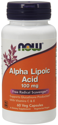 NOW: ALPHA LIPOIC ACID 100mg  60 VCAP 60 VCAPS