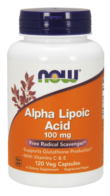 NOW: ALPHA LIPOIC ACID 100mg  120 VCAPS 120 VCAPS