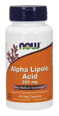 NOW: ALPHA LIPOIC ACID 250mg  60 CAPS 60 CAPS