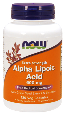 NOW: ALPHA LIPOIC ACID 600mg 120 VCAPS