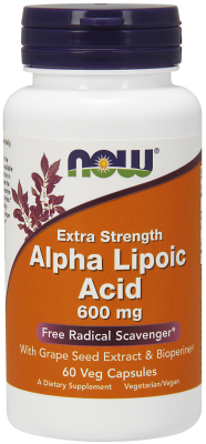 NOW: ALPHA LIPOIC ACID 600mg   60 VCAPS 60 VCAPS