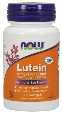 NOW: LUTEIN ESTERS 10mg 120 SGELS 1