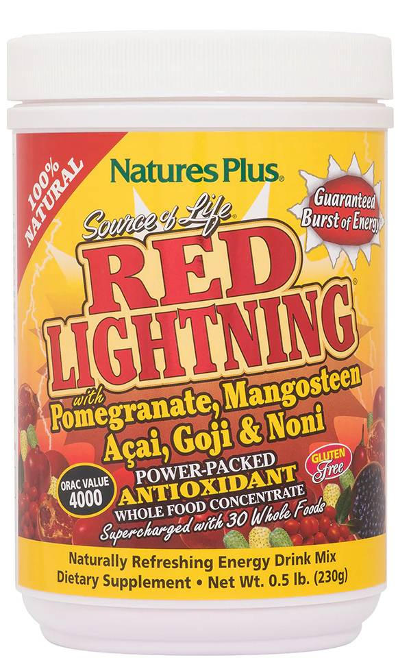 Source of Life Red Lightning Antioxidant Drink Powder, 0.5 lb. (230g) Jars Powder