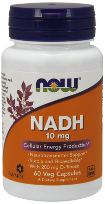 NOW: NADH 10mg With Ribose 60 Vcaps