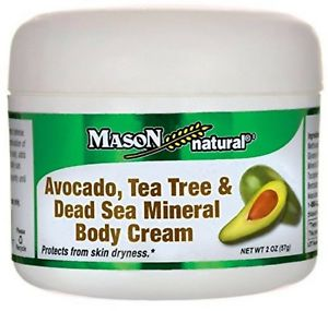 MASON VITAMINS: Avocado Tea Tree & Dead Sea Mineral Body Cream 2 oz