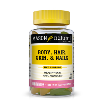 MASON VITAMINS: Body Hair Skin and Nails Gummy 60 gummy