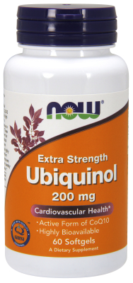 NOW: Ubiquinol 200 mg Extra Strength - 60 Softgels 60 Softgels