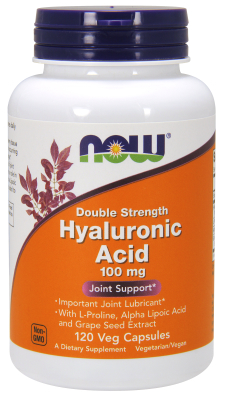 NOW: HYALURONIC ACID 100MG 2X PLUS 120 VCAPS