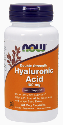 NOW: Hyaluronic Acid 100mg Double Strength 60 Vcaps