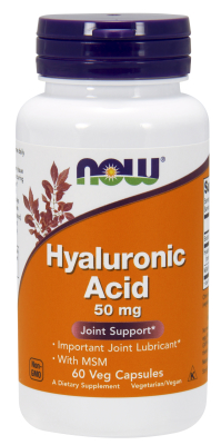 NOW: HYALURONIC ACID 50MG Plus MSM 60 VCAPS