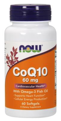 NOW: CoQ10 60mg with Omega-3 60 SGELS