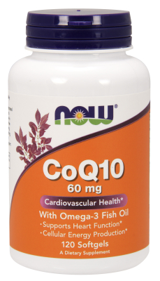 NOW: CoQ10 60mg with Omega-3 120 Softgels