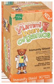 YUMMI BEARS (HERO NUTRITIONAL PRODUCTS): Organic Yummi Bears Immunity Shield 90 ct