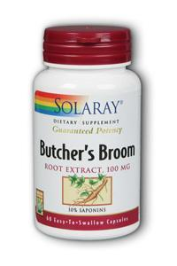 Solaray: Butchers Broom Extract 60ct 100mg