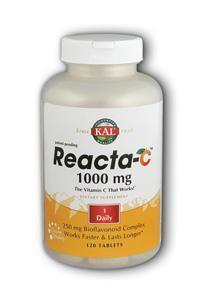 KAL: Reacta-C 1000mg with Bioflavonoids 120 Tabs