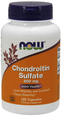 NOW: CHONDROITIN SULFATE 600mg  120 CAPS 120 CAPS
