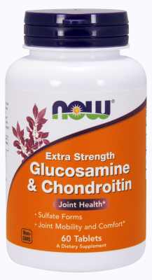 NOW: GLUCOS & CHOND 2X 750  600mg 60 TABS 1