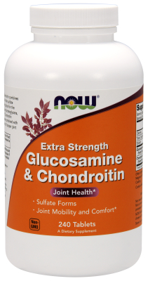 NOW: GLUCOS & CHOND 2X 750  600mg 240 TABS 1