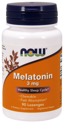 NOW: MELATONIN 3mg  90 LOZ 1
