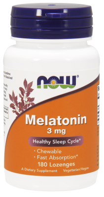 NOW: MELATONIN 3mg  180 LOZ 1