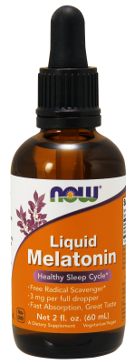 NOW: Liquid Melatonin 3mg 2 fl oz