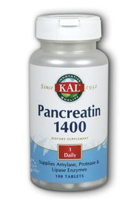 Kal: Pancreatin 100ct 1400mg