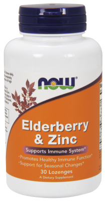 NOW: Elderberry & Zinc 30 Lozenges