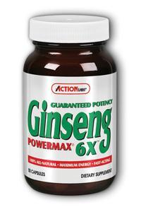 Action Labs: Ginseng Power Max 6X 50ct