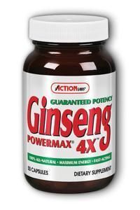 Action Labs: Ginseng PowerMax 4X 50ct