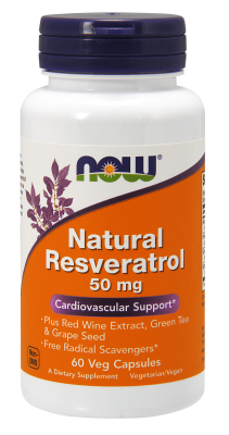NOW: Resveratrol 50mg 60 Vcaps