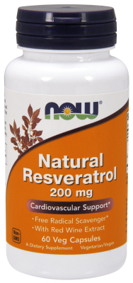 NOW: Resveratrol 200mg 60 Vcaps
