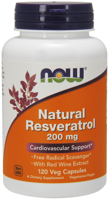 NOW: Resveratrol Mega Potency 200mg 120 Vcaps
