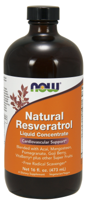 NOW: Natural Resveratrol Mega Potency 16 fl oz