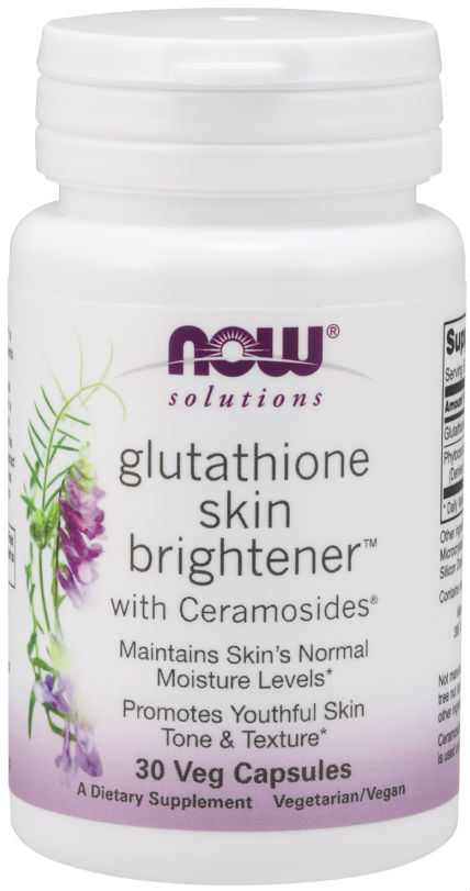 NOW: Glutathione Skin Brightener with Ceramosides 30 Veg Caps