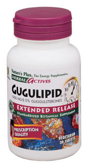 Gugulipid 1000mg, 30ct - 2.5% Guggulsterones
